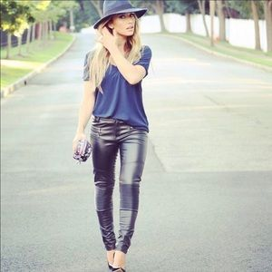 Kittenish Faux Leather Moto Pants Size XS